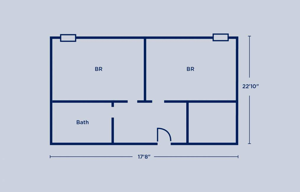 Gregory Double Room Layout