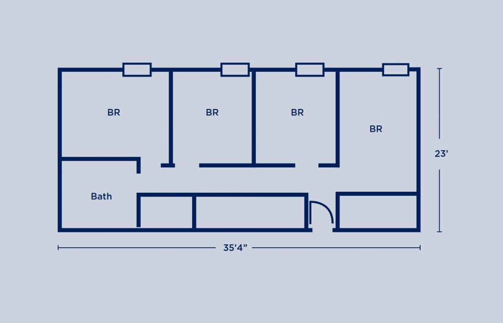 Gregory Quad Room Layout
