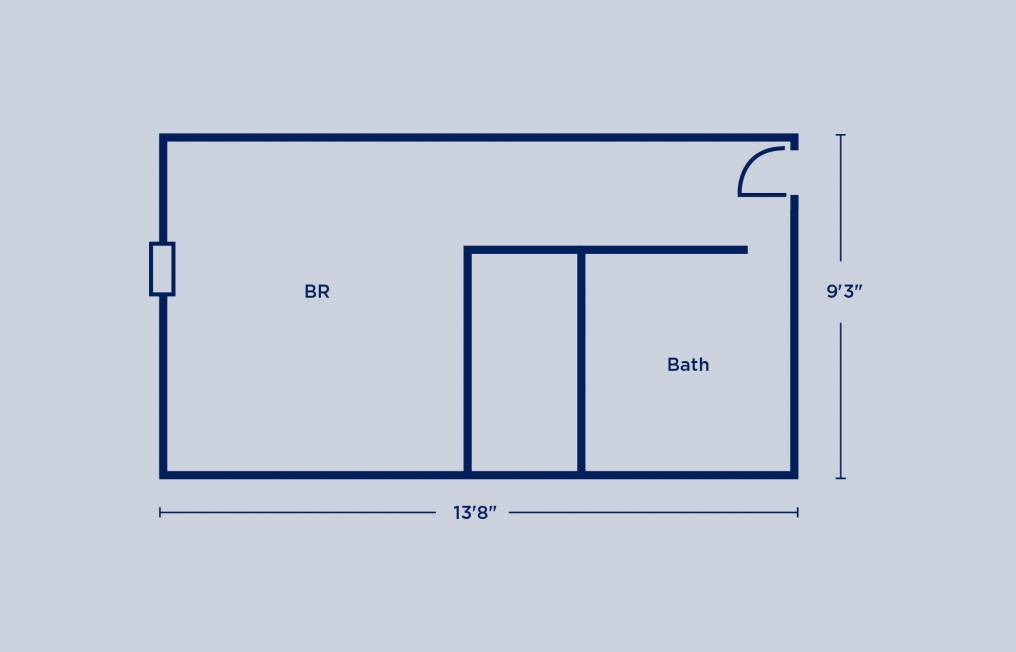 Gregory Single Room Layout