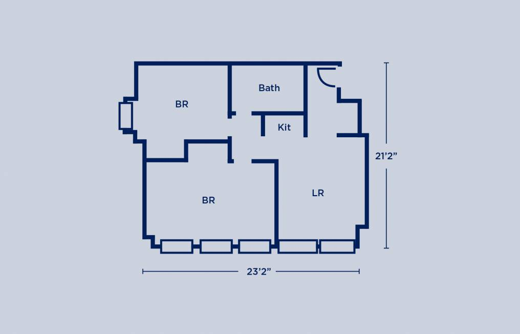 Harrison Double Two Bedroom Apartment Layout