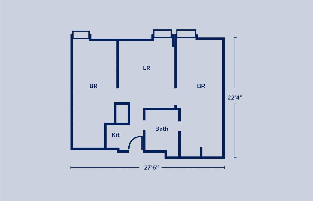 Rodin Double Two Bedroom Apartment Layout