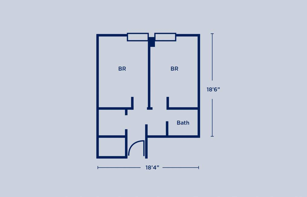 Rodin Double Two Bedroom Layout