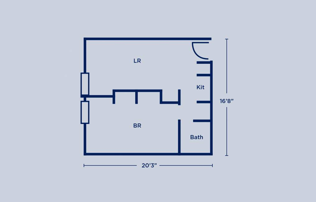 Rodin Single Apartment Layout