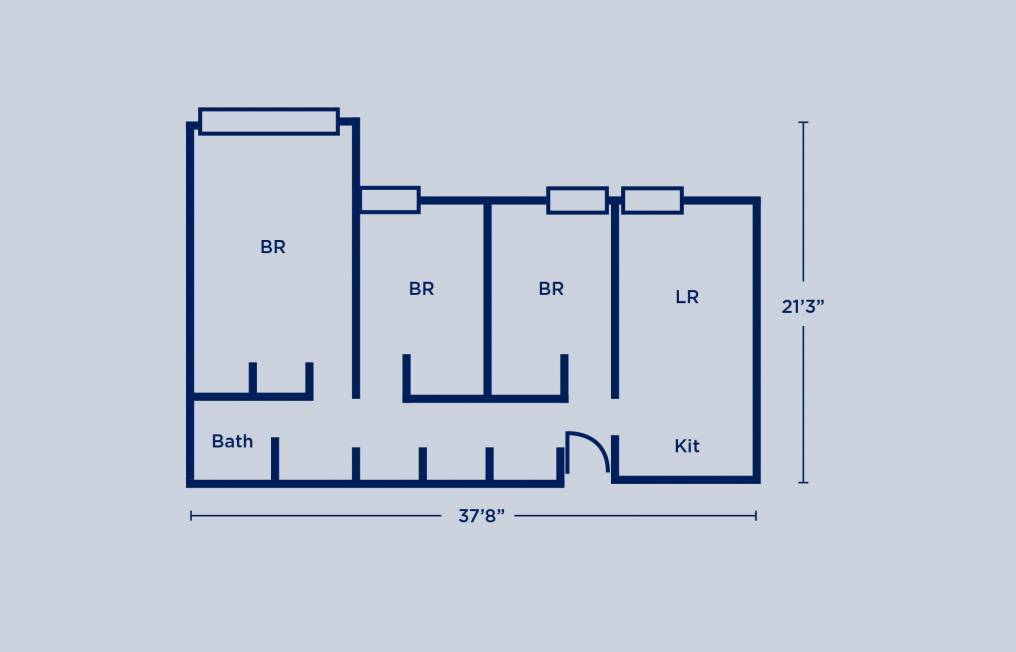 Rodin Triple Apartment Layout
