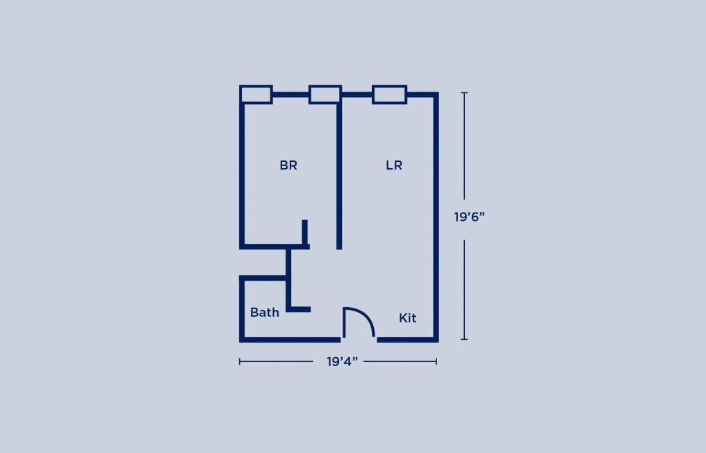 Sansom Place Single Apartment Layout