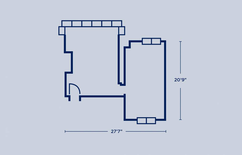 Ware Triple Room Layout Example